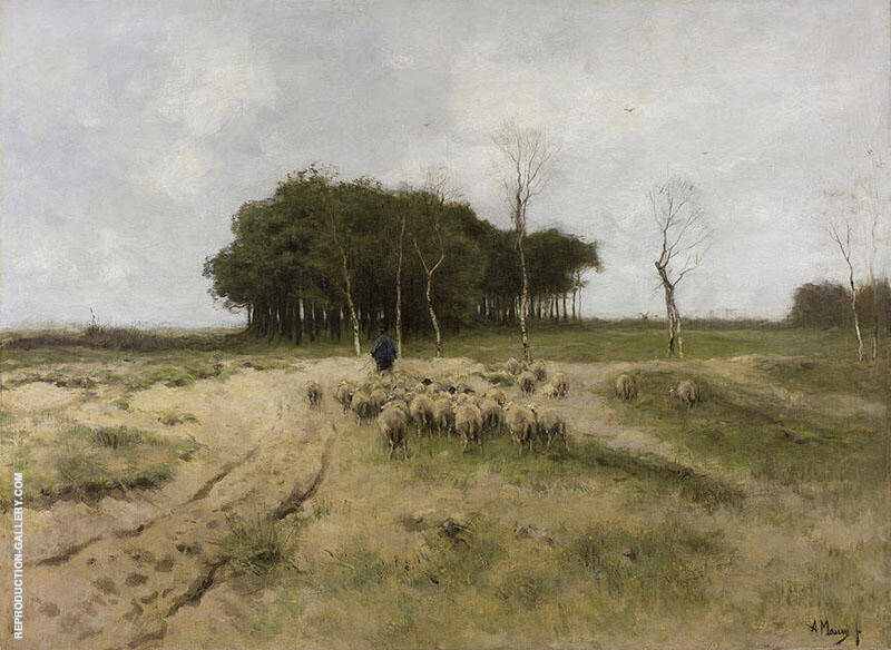 Heath at Laren Painting By Anton Mauve - Reproduction Gallery