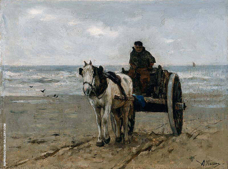 Seaweed Gatherer By Anton Mauve Replica Paintings on Canvas - Reproduction Gallery