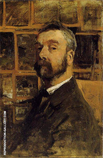 Self Portrait Painting By Anton Mauve - Reproduction Gallery
