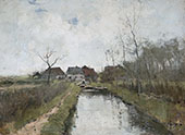 A Cottage by a Ditch By Anton Mauve