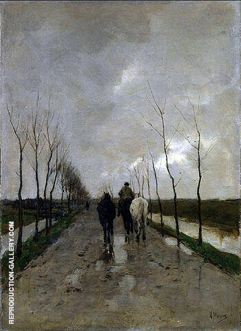 A Dutch Road c1880 By Anton Mauve
