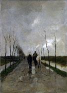 A Dutch Road c1880 By Anton Mauve