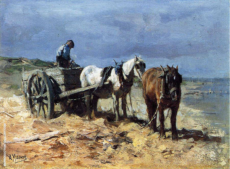 A Team and Pull Cart By Anton Mauve