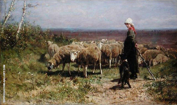 Shepherdess Painting By Anton Mauve - Reproduction Gallery