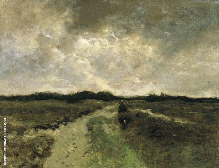 Crossing the Heath Painting By Anton Mauve - Reproduction Gallery