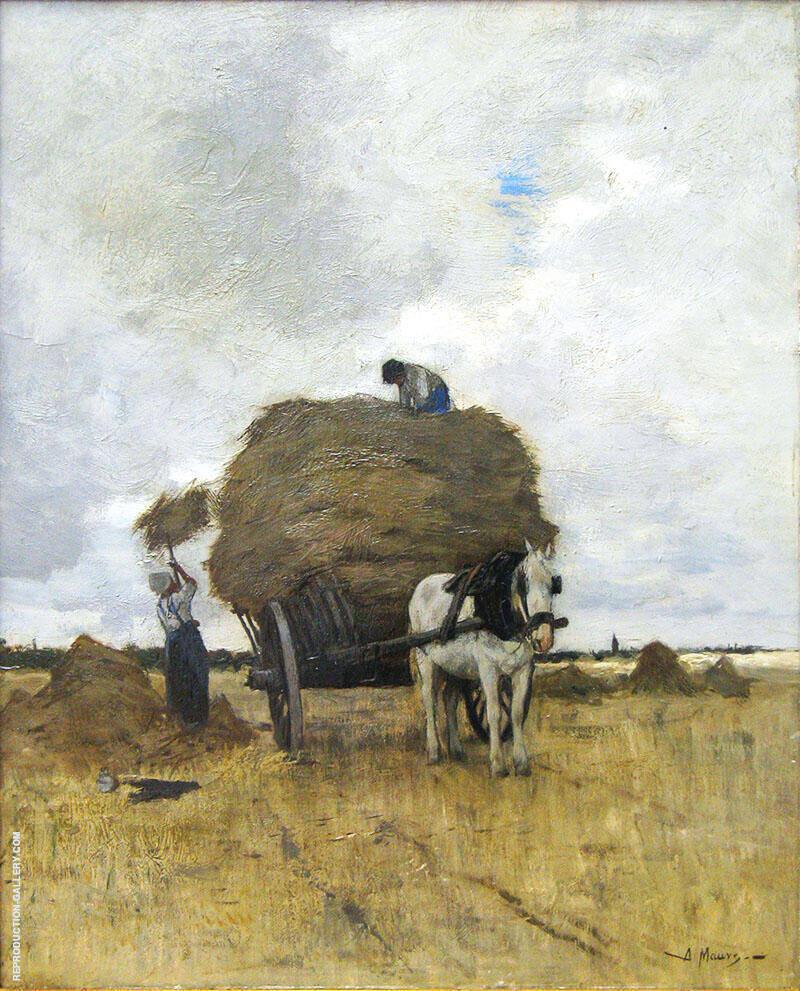 Harvesting Hay By Anton Mauve