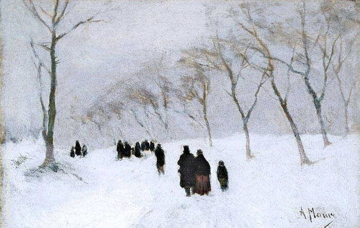 Snow Storm c1878 By Anton Mauve Replica Paintings on Canvas - Reproduction Gallery