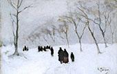 Snow Storm c1878 By Anton Mauve