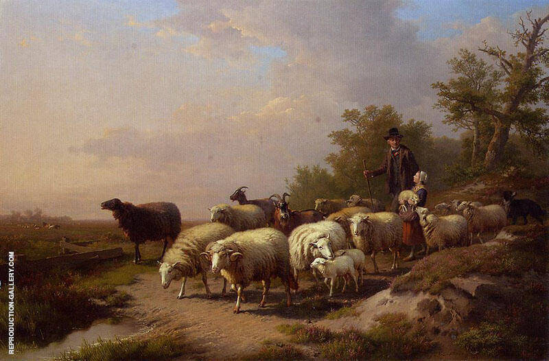 Tending the Flock 1872 Painting By Anton Mauve - Reproduction Gallery