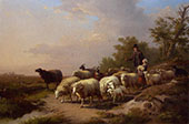Tending the Flock 1872 By Anton Mauve