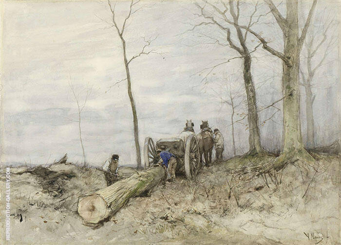 The Cart with Two Wheels 1885 By Anton Mauve