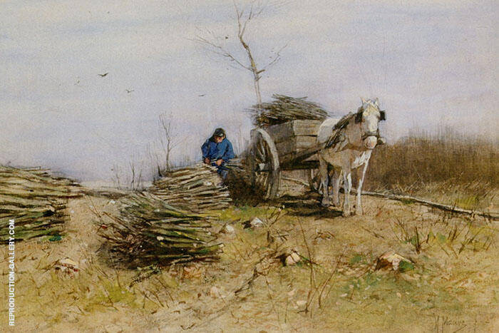 The Wood Gatherer By Anton Mauve Replica Paintings on Canvas - Reproduction Gallery