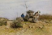 The Wood Gatherer By Anton Mauve