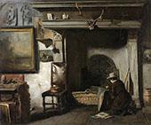 The Workshop of the Haarlem Painter Pieter Frederik van Os The Teacher of Mauve c1885 By Anton Mauve