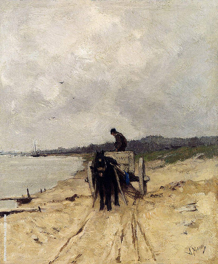 The Sand Cart By Anton Mauve
