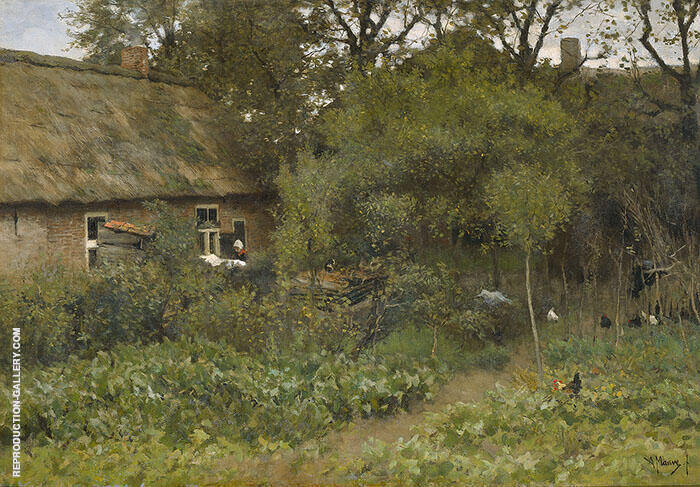 The Kitchen Garden c1885 By Anton Mauve Replica Paintings on Canvas - Reproduction Gallery