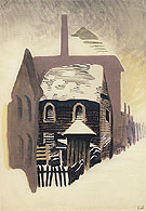 Clapboard House 1917 By Charles Burchfield