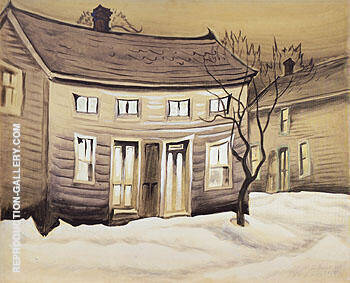 Cat Eyed House 1918 Painting By Charles Burchfield - Reproduction Gallery