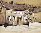 Cat Eyed House 1918 By Charles Burchfield