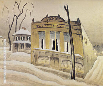 The Corner Store 1918 By Charles Burchfield