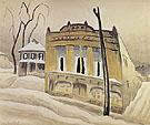 The Corner Store 1918 By Charles Burchfield