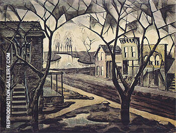 Spring Twilight 1920 By Charles Burchfield