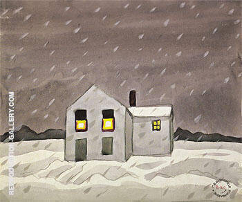 Its Snowing 1920 By Charles Burchfield