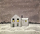 It's Snowing 1920 By Charles Burchfield