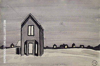 Gray House 1920 By Charles Burchfield - Oil Paintings & Art Reproductions - Reproduction Gallery