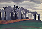 Gothic Landscape 1919 By Charles Burchfield