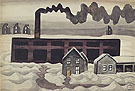 Factory and Houses 1920 By Charles Burchfield
