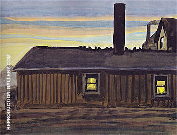 House in November Evening 1919 Painting By Charles Burchfield