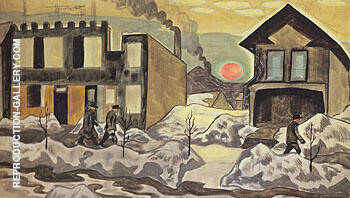 Red Sun 1920 By Charles Burchfield