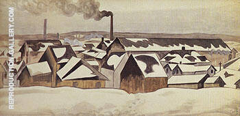 Snow Patterns 1920 Painting By Charles Burchfield - Reproduction Gallery