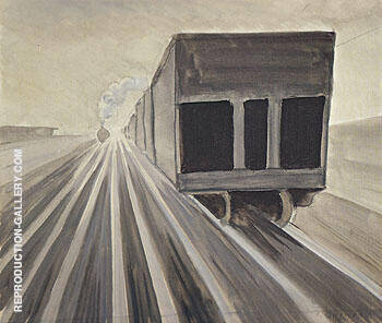 Passing Trains 1920 By Charles Burchfield Replica Paintings on Canvas - Reproduction Gallery