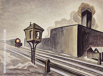 Gates Down 1920 By Charles Burchfield