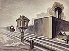 Gates Down 1920 By Charles Burchfield