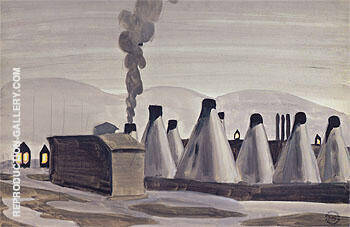 Industrial Kilns 1920 By Charles Burchfield