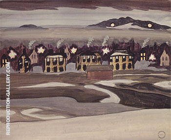Village Lights 1920 By Charles Burchfield