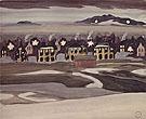 Village Lights 1920 By Charles Burchfield