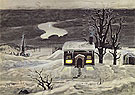 Cloud and Lonely Farmhouse 1920 By Charles Burchfield