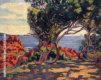 Agay at Cap Long Painting By Armand Guillaumin - Reproduction Gallery