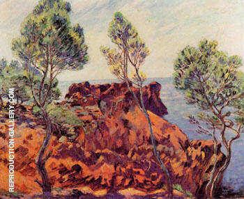 Agay Red Rocks By Armand Guillaumin - Oil Paintings & Art Reproductions - Reproduction Gallery