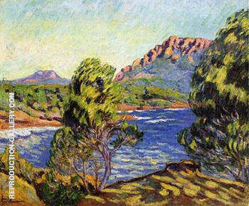 Agay The Bay During The Mistral By Armand Guillaumin - Oil Paintings & Art Reproductions - Reproduction Gallery
