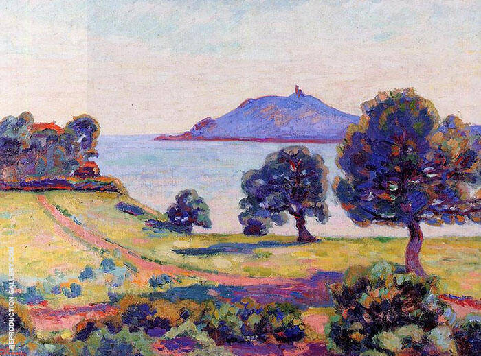 Agay the Chateau and the Signal Tower 1894 By Armand Guillaumin Replica Paintings on Canvas - Reproduction Gallery