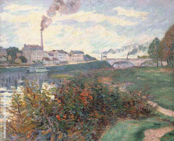 Banks of the Marne 1885 By Armand Guillaumin Replica Paintings on Canvas - Reproduction Gallery