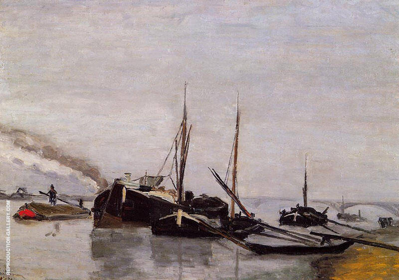 Barges in the Seine at Bercy By Armand Guillaumin