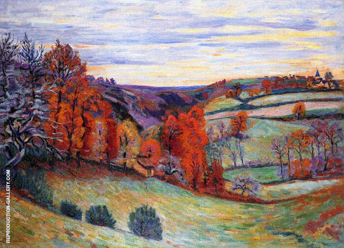 Barnyard Crozant 1895 Painting By Armand Guillaumin - Reproduction Gallery