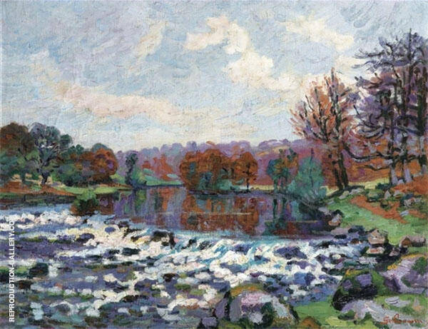 Barrage de Genetin Crozant 1898 By Armand Guillaumin Replica Paintings on Canvas - Reproduction Gallery