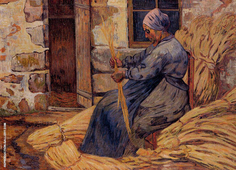 Basket Maker Damiette 1884 Painting By Armand Guillaumin